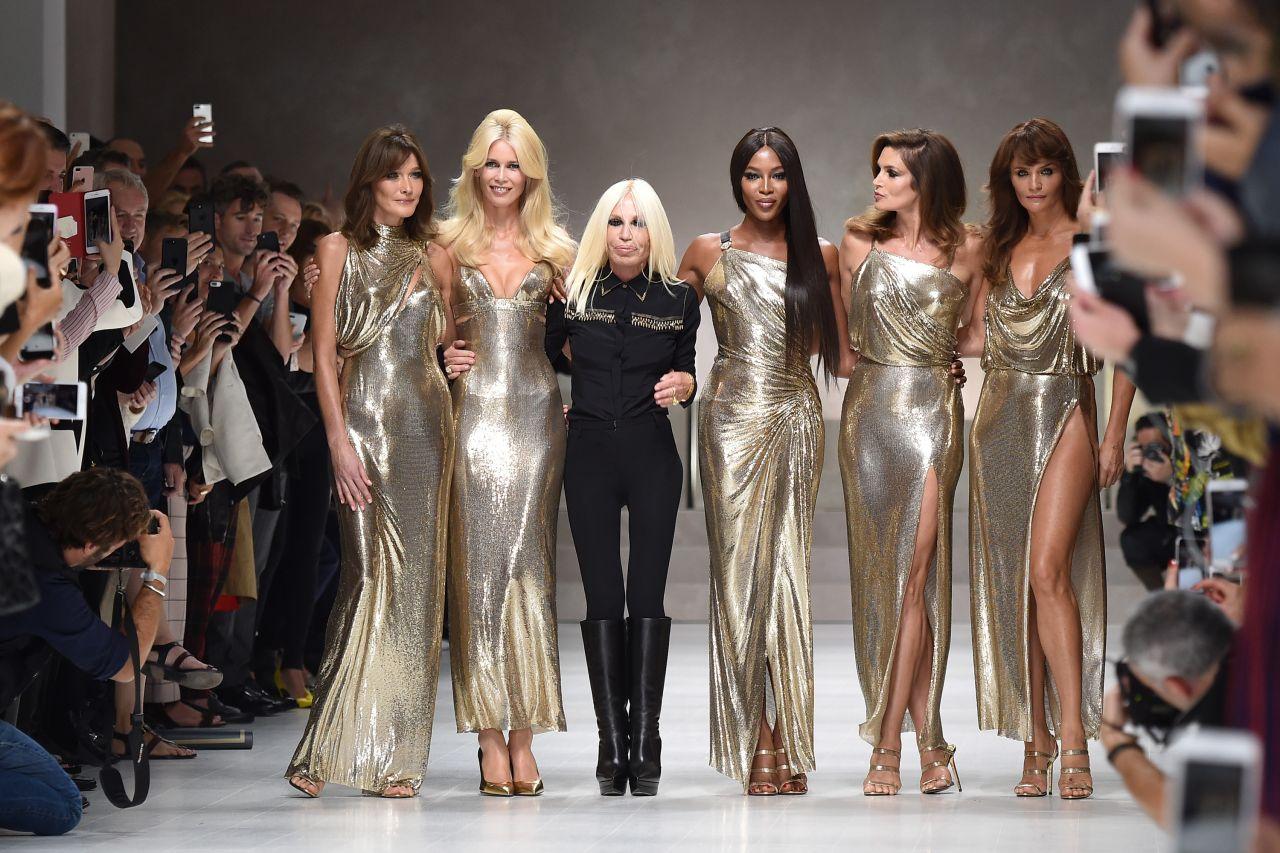 Fashion 2017 casual summer - Cindy Crawford Claudia Schiffer Naomi Campbell Carla
