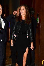 Cindy Crawford Night Out Style - Milan 09/23/2017