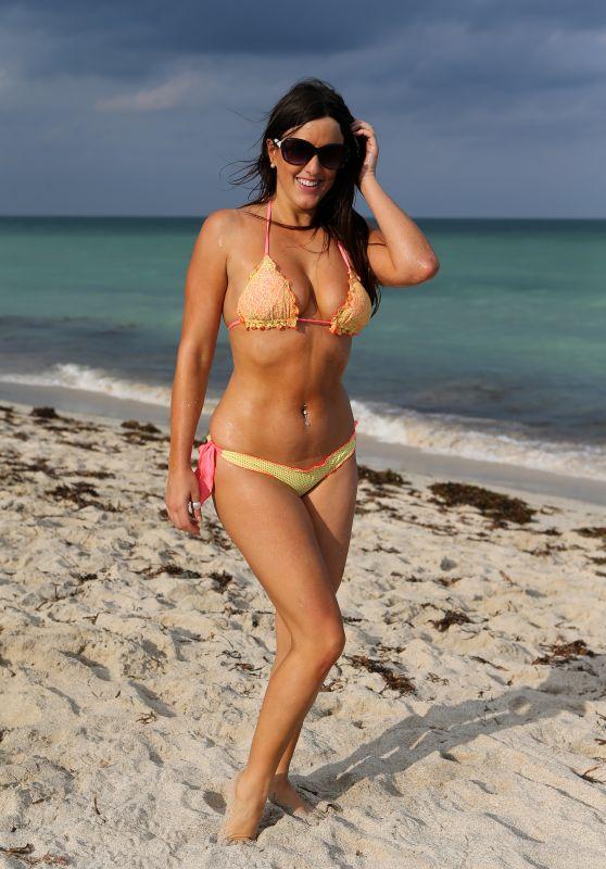 Claudia Romani in Bikini on the Beach in Miami 09/20/2017