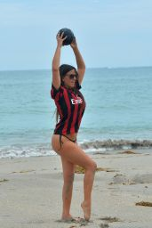 Claudia Romani in Leonardo Bonucci # 19 Team Jersey – Miami Beach 09/27/2017