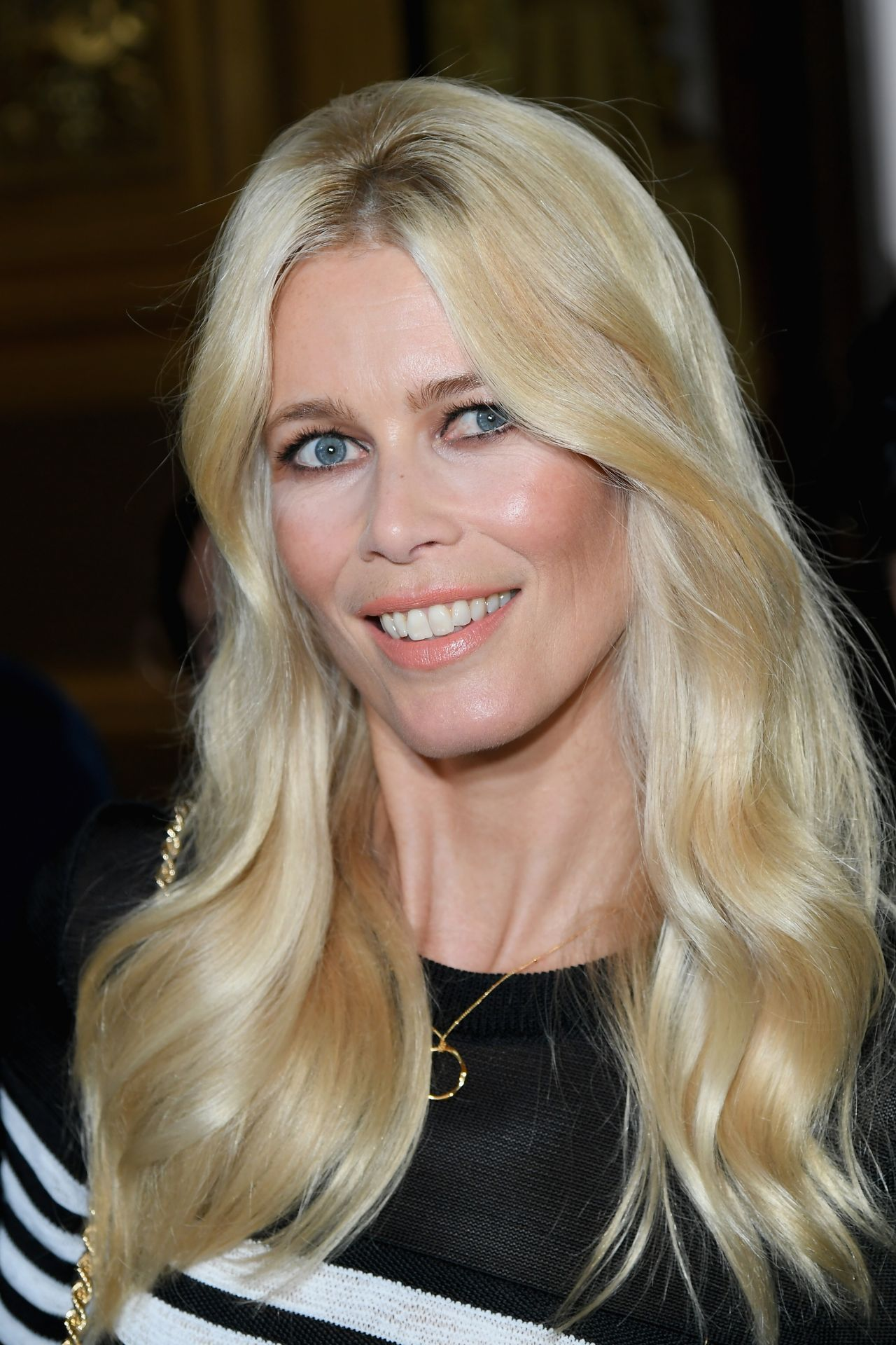 Claudia Schiffer Balmain Fashion Show Paris Lexee Smith Personal Pics