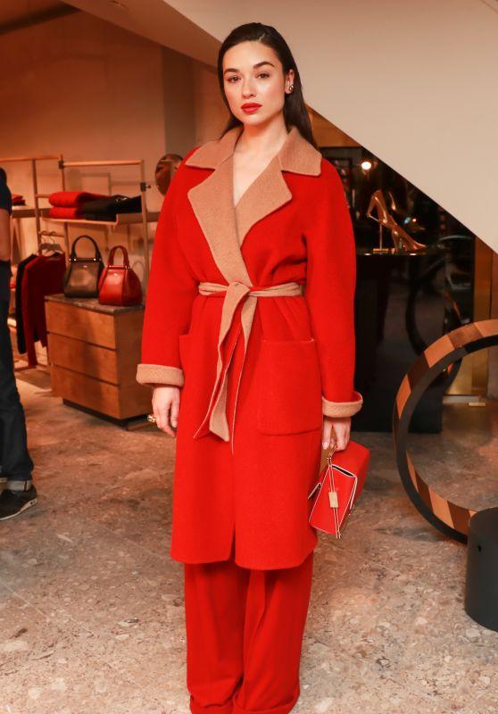 Crystal Reed – Max Mara Boutique Reopening – New York Fashion Week 09/08/2017
