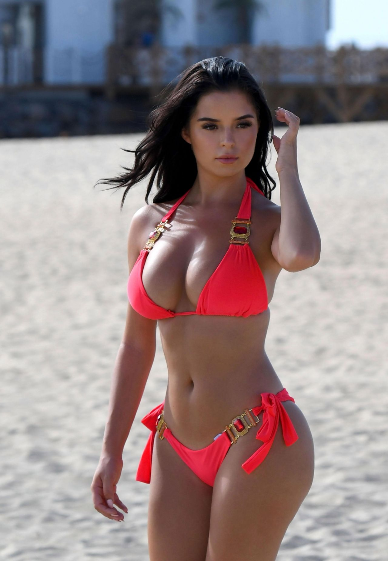 Demi Rose in Pink Bikini at a Beach in Cape Verde Pic 9 of 35