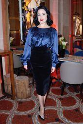 Dita Von Teese - Glamorama Celebrities by Ali Mahdavi Photo Exhibition in Paris 09/25/2017