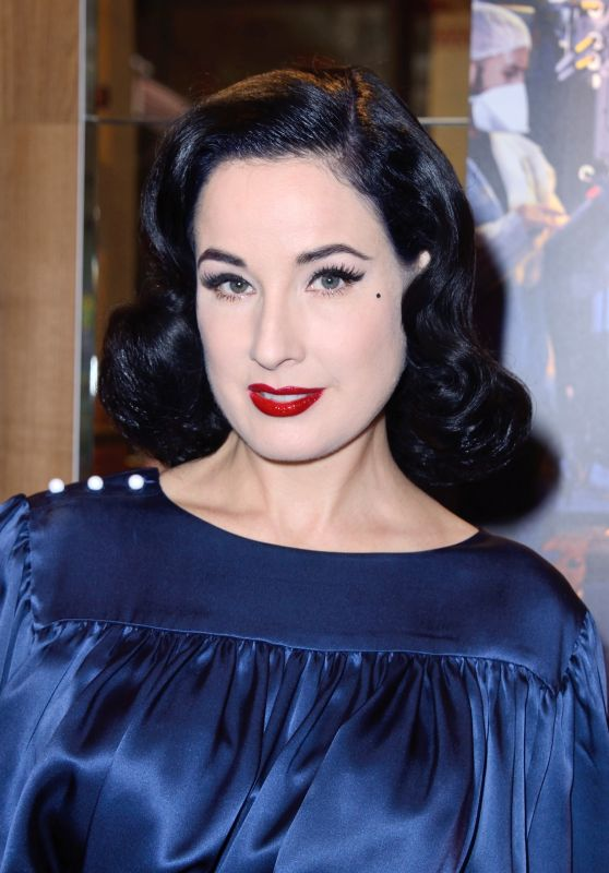 Dita Von Teese - Glamorama Celebrities by Ali Mahdavi Photo Exhibition in Paris 09/25/2017