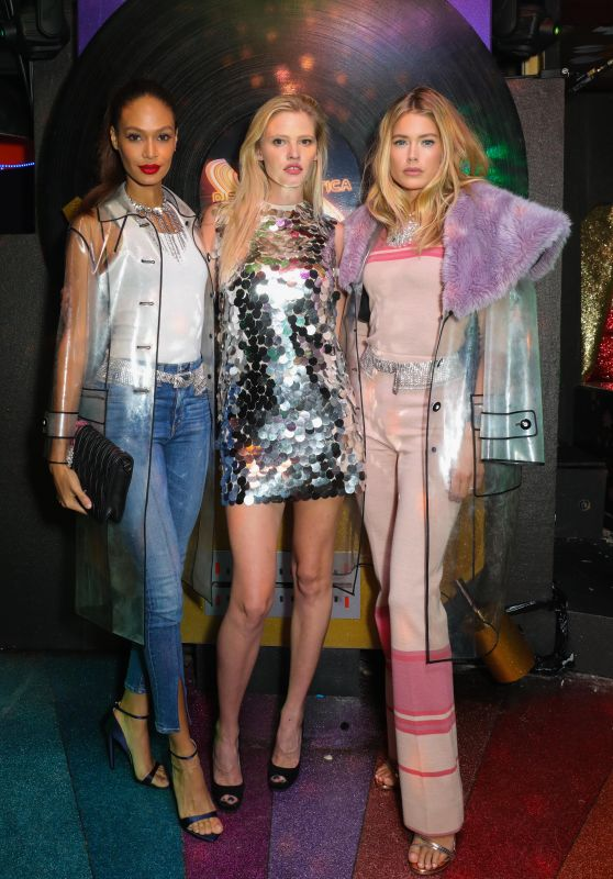 Doutzen Kroes, Lara Stone & Joan Smalls - LOVE Magazine x Miu Miu Party in London 09/18/2017