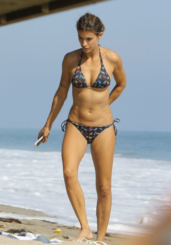 Elisabetta Canalis in Bikini - Beach in Malibu 09/05/2017