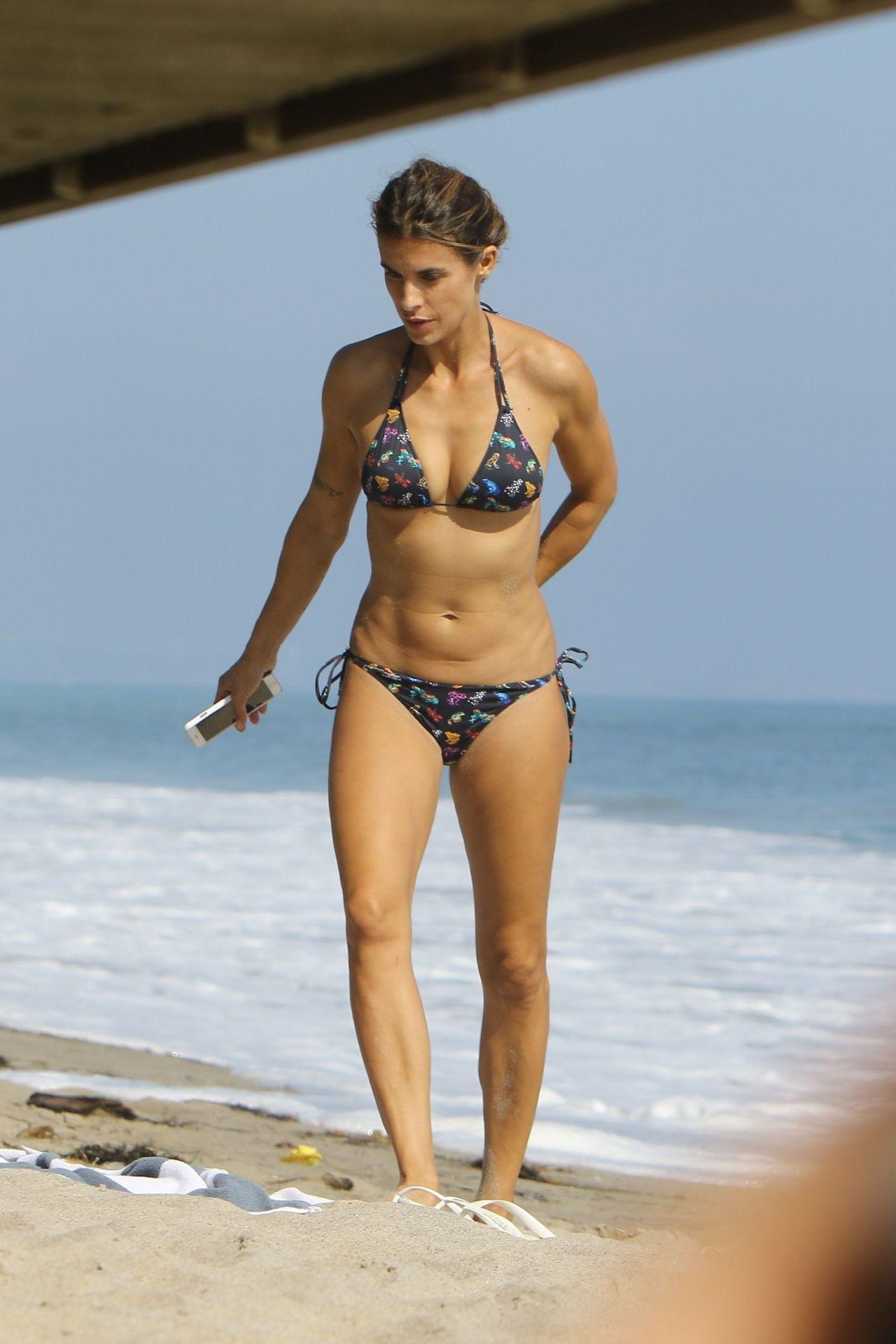 Elisabetta Canalis in Bikini - Beach in Malibu 09/05/2017
