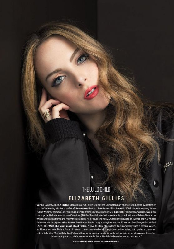 Elizabeth Gillies - Emmy Magazine Issue no. 7, 2017