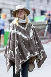 Elle Fanning - On the Set of Woody Allen Film in NYC 09/26/2017