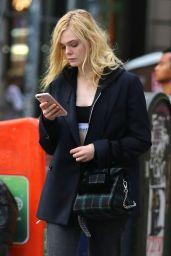 Elle Fanning Street Style - NYC 09/18/2017