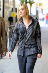Elle Fanning - Woody Allen Film Set in NYC 09/25/2017