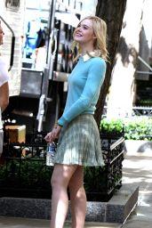 Elle Fanning - Woody Allen Film Set in NYC 09/27/2017