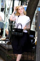 Elle Fanning - Woody Allen Film Set in NYC 09/29/2017
