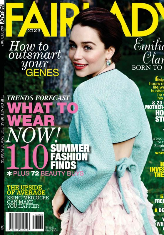 Emilia Clarke - Fairlady Magazine October 2017 Issue