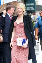 Emma Stone - Arriving at The Late Show with Stephen Colbert in New York City 09/19/2017
