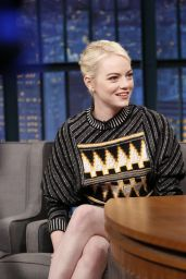 Emma Stone - Late Night With Seth Meyers in NYC 09/21/2017
