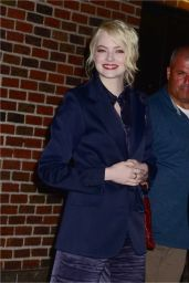 Emma Stone - Leaving The Late Show With Stephan Colbert in NYC 09/19/2017
