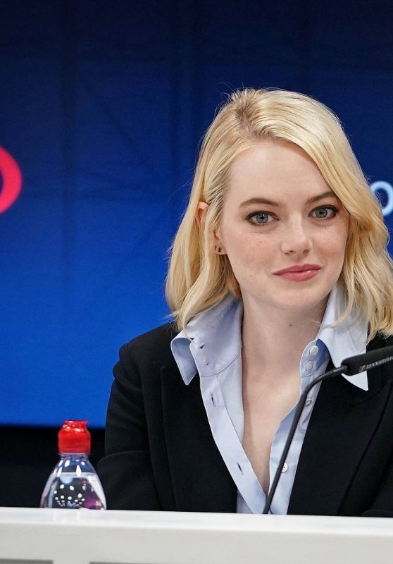 """Emma Stone - US Open Press Conference for """"Battle of the Sexes"""" 09/09/2017"""