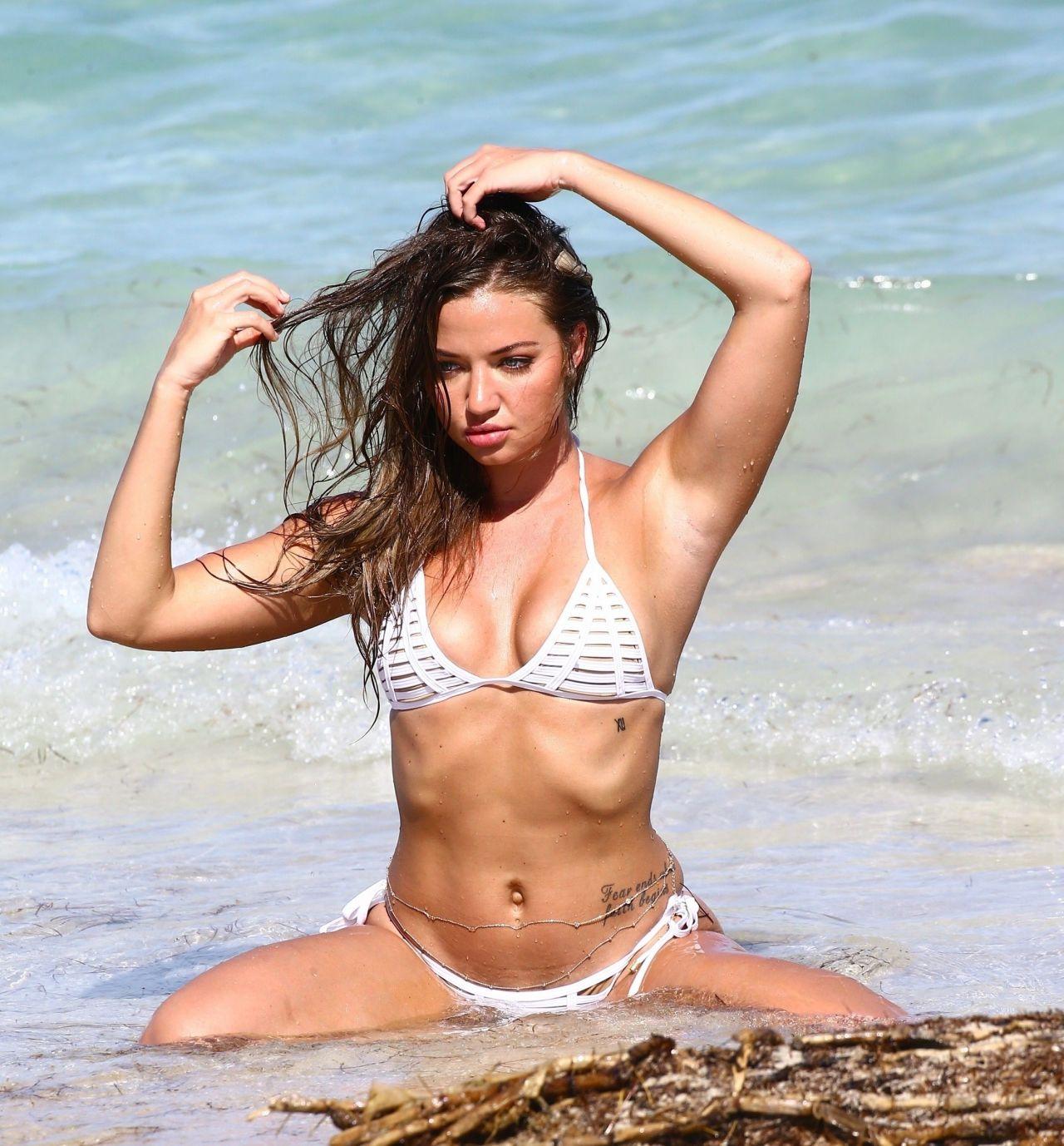 Erika Costell Bikini Photoshoot - Miami Beach 09/01/2017