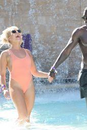 Gabby Allen in Swimsuit by the Pool in Las Vegas 09/14/2017