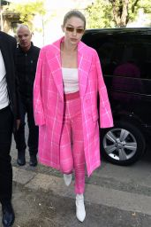 Gigi Hadid - Arriving at Fendi Fashion Show in Milan  09/21/2017