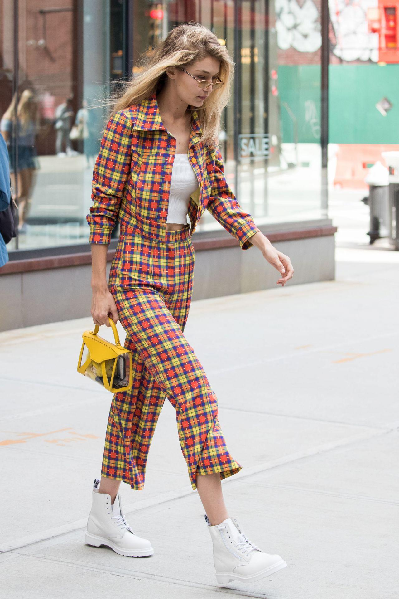 Gigi Hadid Street Fashion - New York City 09/08/2017