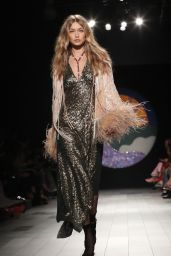 Gigi Hadid Walks Anna Sui Show – New York Fashion Week 09/11/2017