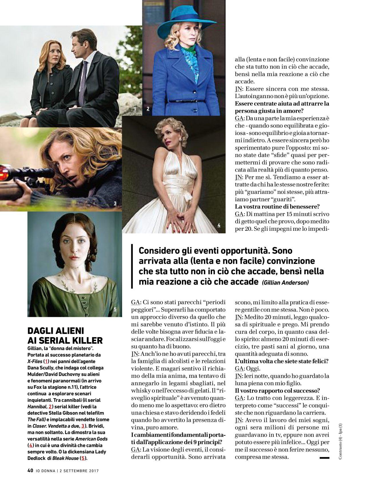 Gillian Anderson - Io Donna del Corriere della Sera September 2017 Issue