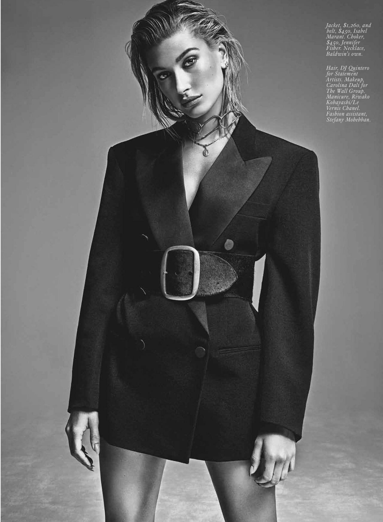 Hailey baldwin fashion magazine october 2019 issue naked (15 pics)