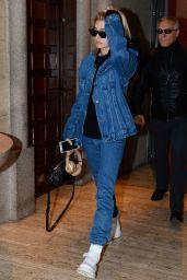 Hailey Baldwin - Out in Milan, Italy 09/25/2017