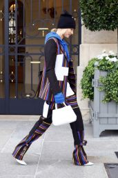 Hailey Baldwin Style and Fashion Inspirations - Paris, France 09/27/2017