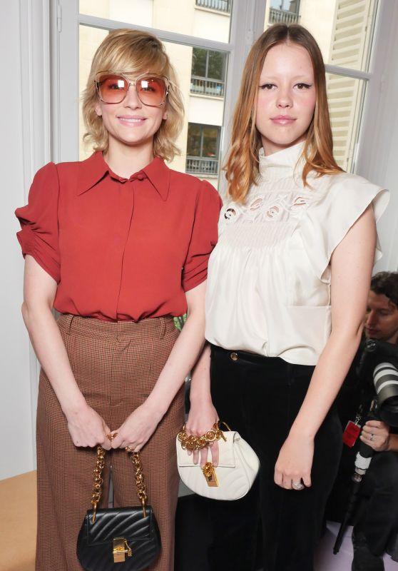 Haley Bennett & Mia Goth – Chloe Fashion Show in Paris 09/28/2017
