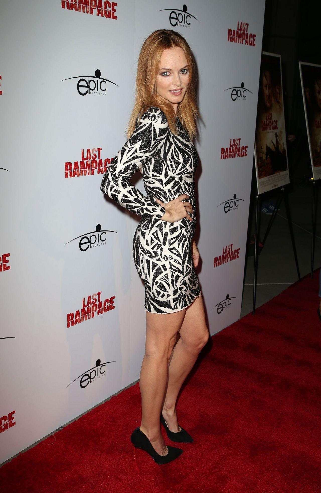 Heather Graham The Last Rampage Movie Premiere In Los