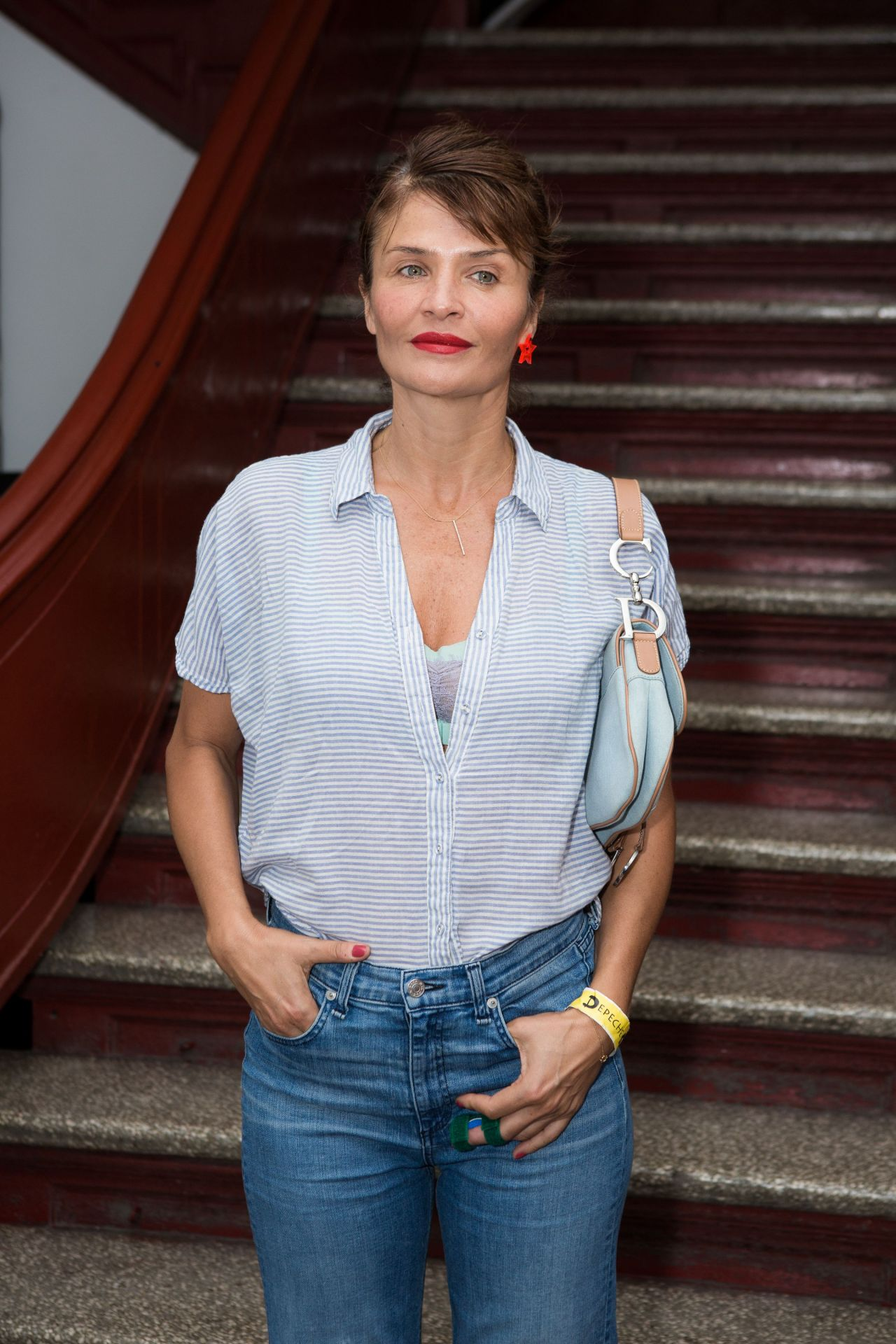 Helena Christensen Front Row At Opening Ceremony Rtw