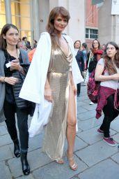Helena Christensen - Versace Show in Milan 09/22/2017