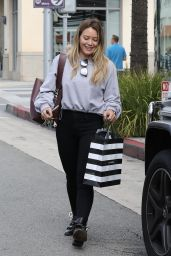 Hilary Duff in Casual Attire - Beverly Hills 09/21/2017