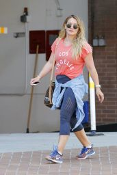 Hilary Duff in Leggings - Out in Beverly Hills 09/05/2017