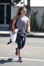 Hilary Duff in Leggings - Running Errands in West Hollywood 09/26/2017