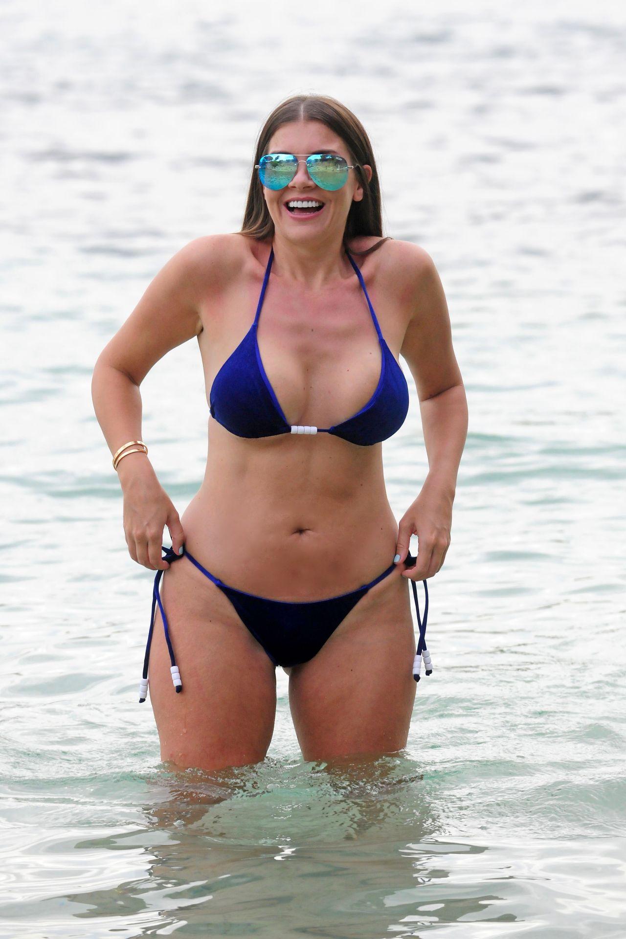 Imogen Thomas in Blue Bikini in Mallorca 09/02/2017