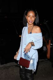 Jada Pinkett Smith - Leaves Madeo Restaurant in West Hollywood 09/20/2017
