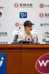 Jelena Ostapenko - Ppress Conference at 2017 WTA Wuhan Open in Wuhan 09/29/2017