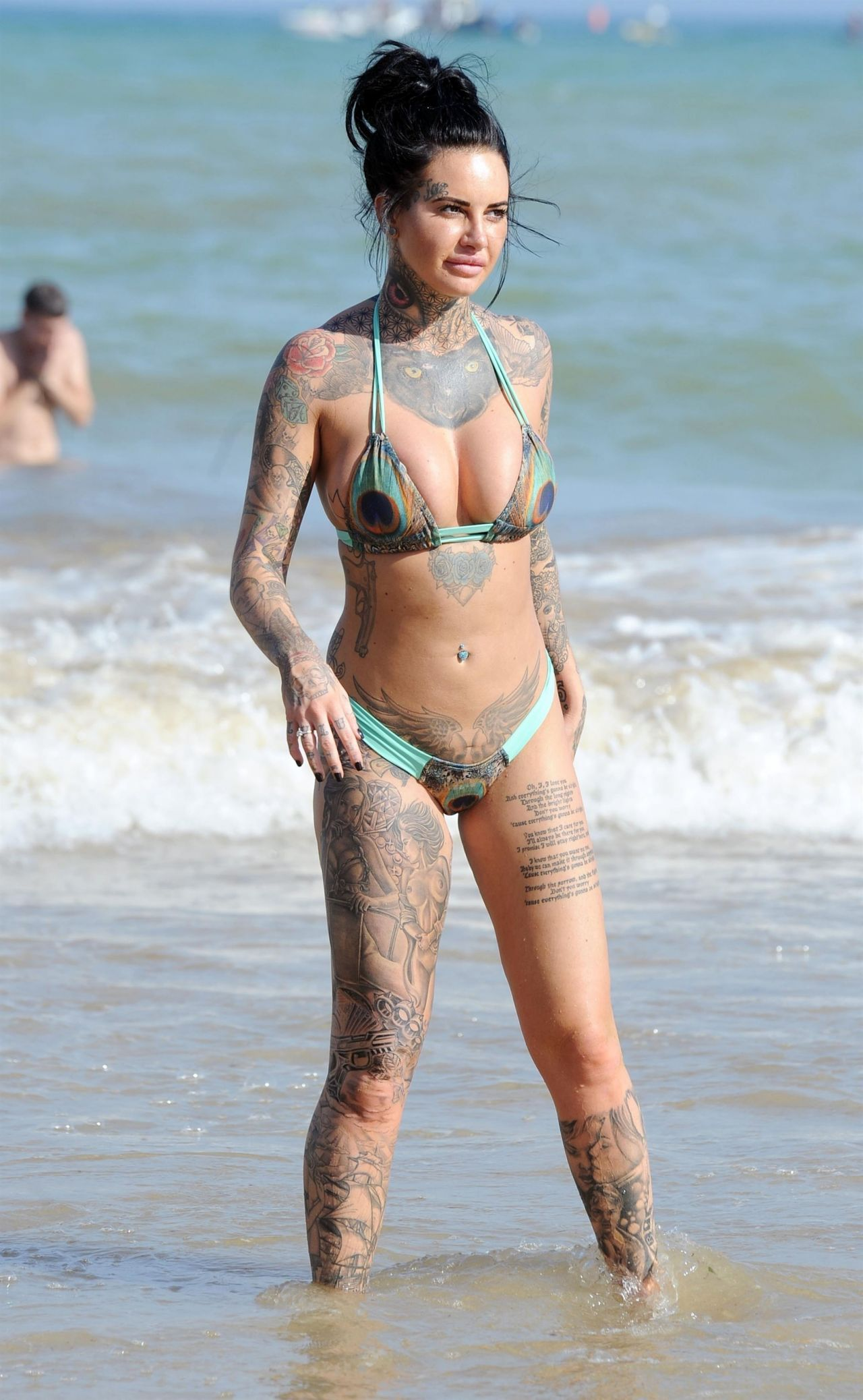 Jemma Lucy Shows Off Her Inked Up Assets In Bikini