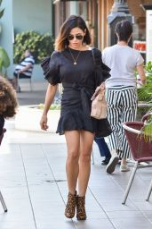 Jenna Dewan Tatum Leggy in Mini Dress - Los Angeles 09/26/2017