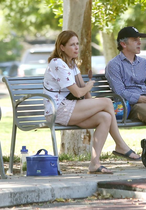 Jenna Fischer at a Local Park in LA 09/06/2017