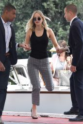 Jennifer Lawrence - Arrives at Excelsior Hotel in Venice, Italy 09/05/2017