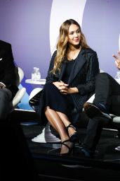"""Jessica Alba at """"Building A Brand In A Mobile First World"""" - Advertising Week in NYC 09/26/2017"""