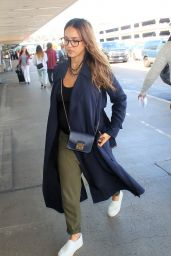 Jessica Alba in Travel Outfit - LAX Airport in Los Angeles 09/25/2017