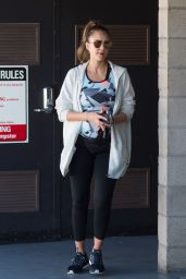 Jessica Alba - Leaving the Gym in Los Angeles 09/23/2017