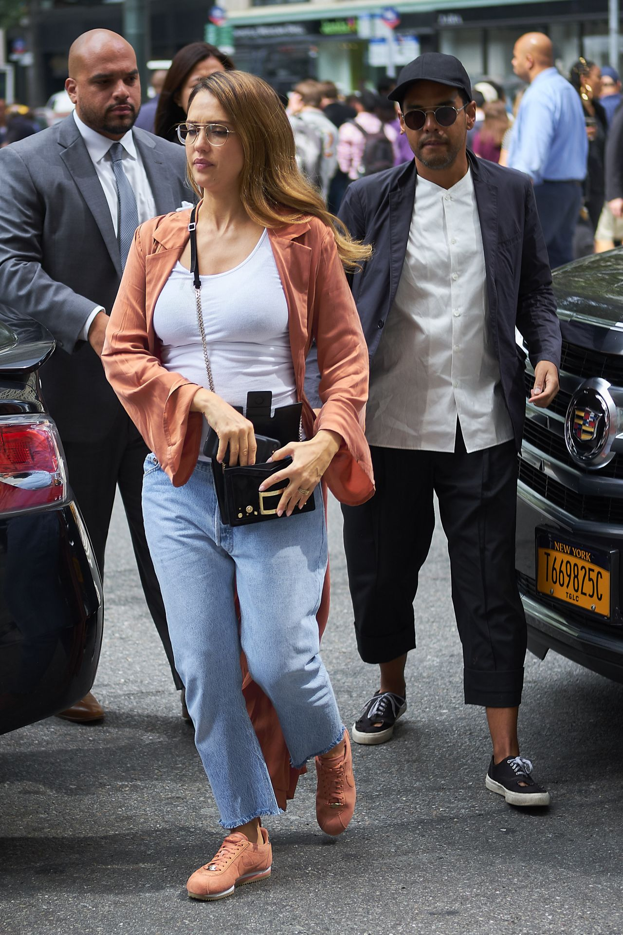 Jessica Alba - With Her Brother Joshua in NYC 09/07/2017